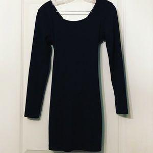 NWOT Black Open-Back Mini Dress - Size M
